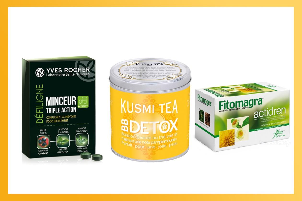 Cominciamo con una dieta detox a base di bevande e soluzioni ad hoc (Kusmi Tea – Aboca – Yves Rocher)