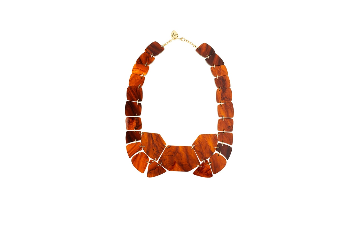 Fashion Toplist California dreaming Tortoise shell link necklace di Tatty devine
