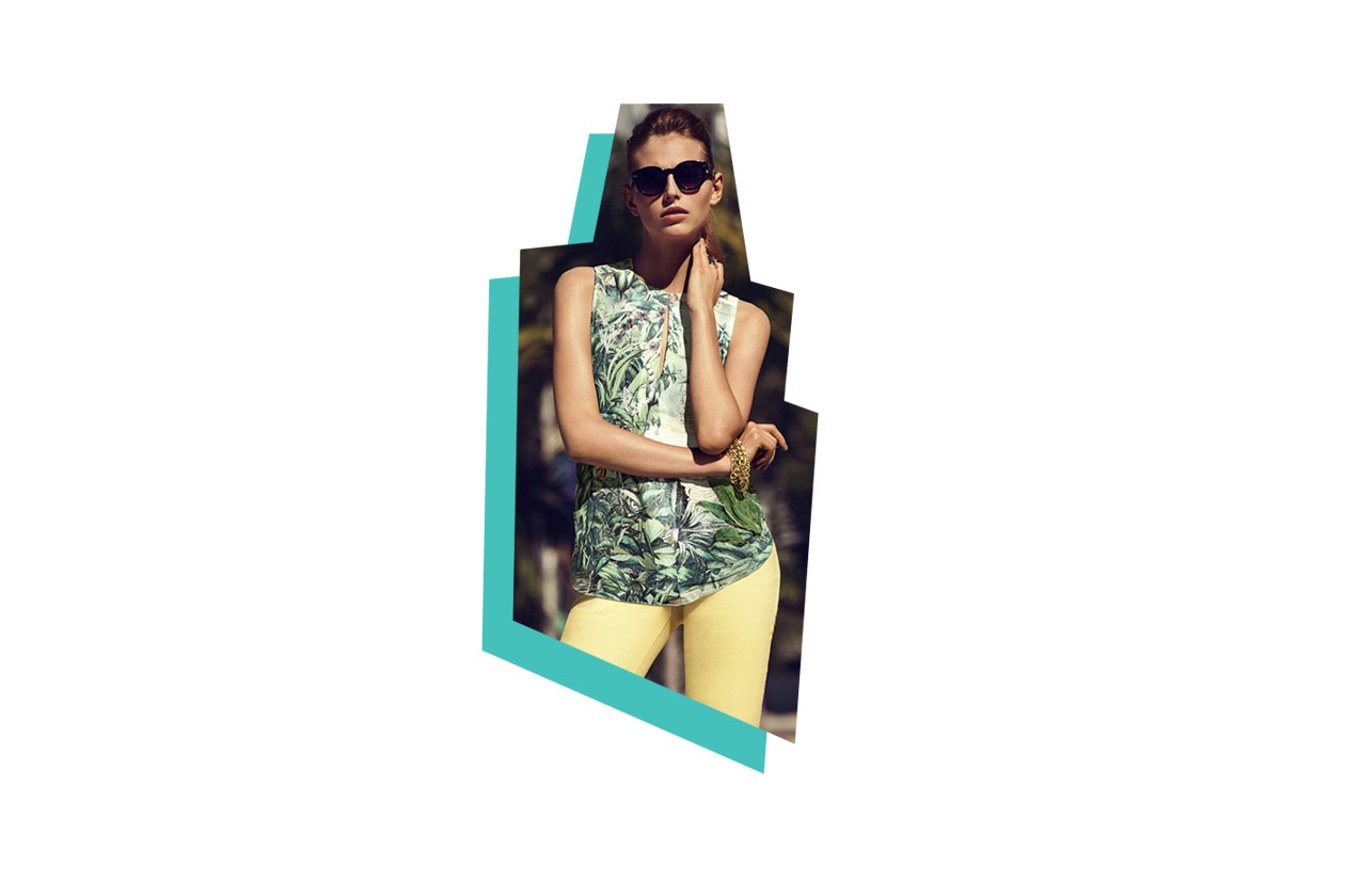 Fashion Toplist California dreaming camicetta hawaii di h&M