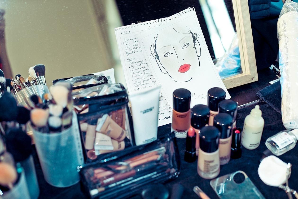 I prodotti make up usati nel backstage della sfilata di N.21