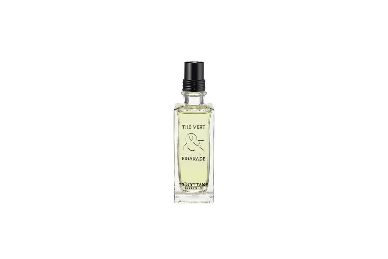 Immaginate un giorno d'estate con tutti i suoi aromi: è questo lo spirito del nuovo profumo Thé Vert & Bigarade di L'Occitane