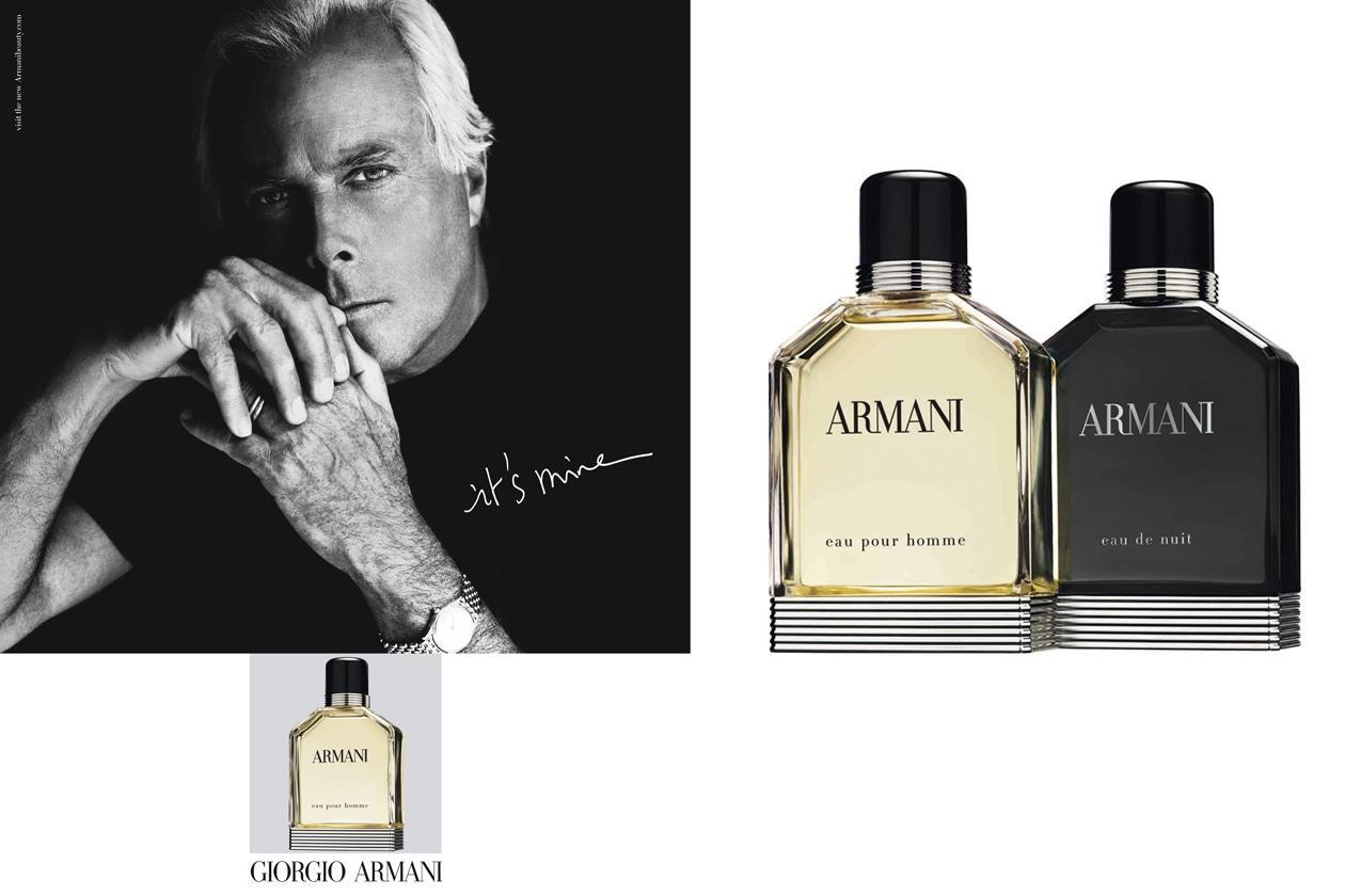 Le due anime di Giorgio Armani Parfums: Eau pour Homme, una fragranza storica must have con un nuovo flacone e il suo alter ego, l'Eau de Nuit