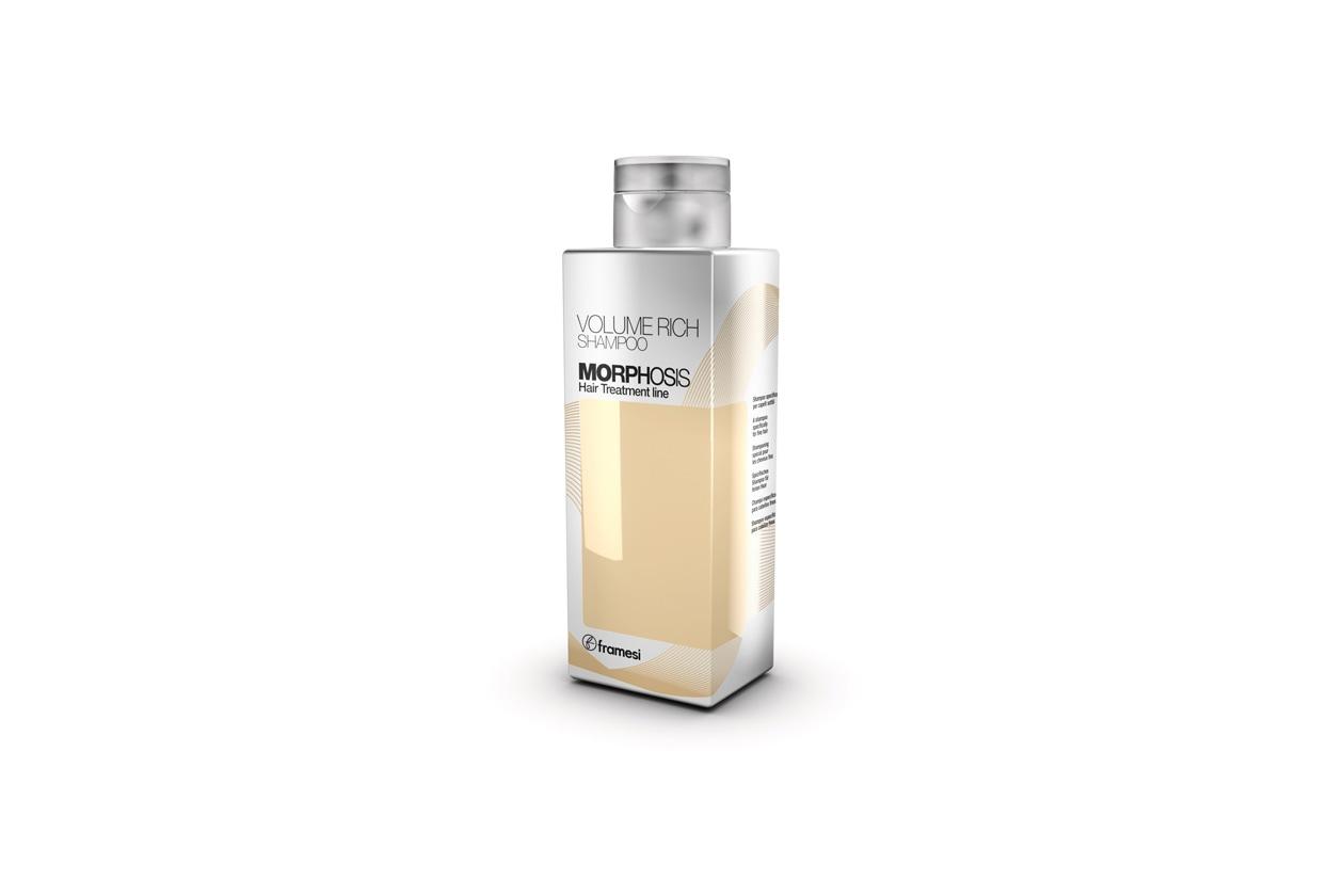 Una chioma piena, morbida e leggera come la seta grazie allo shampoo Volume Rich Morphosis di Framesi