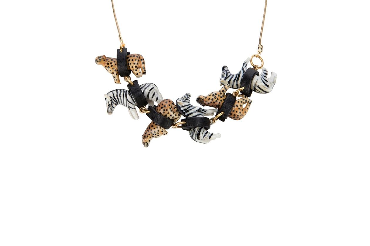 Collana leopardo zebra pendenti Andres Gallardo