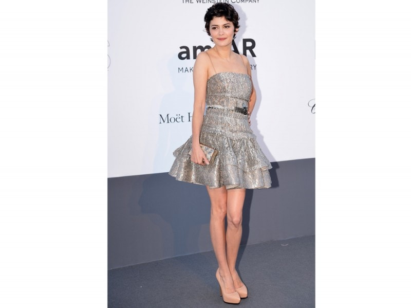 audrey tautou in lanvin getty