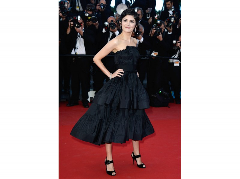 audrey tautou lanvin strapless getty