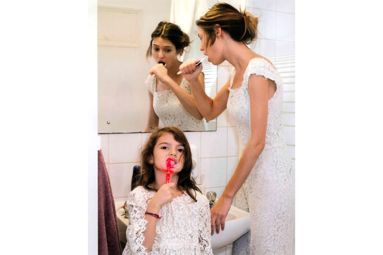 Bianca Balti con la figlia Matilde per Dolce e Gabbana