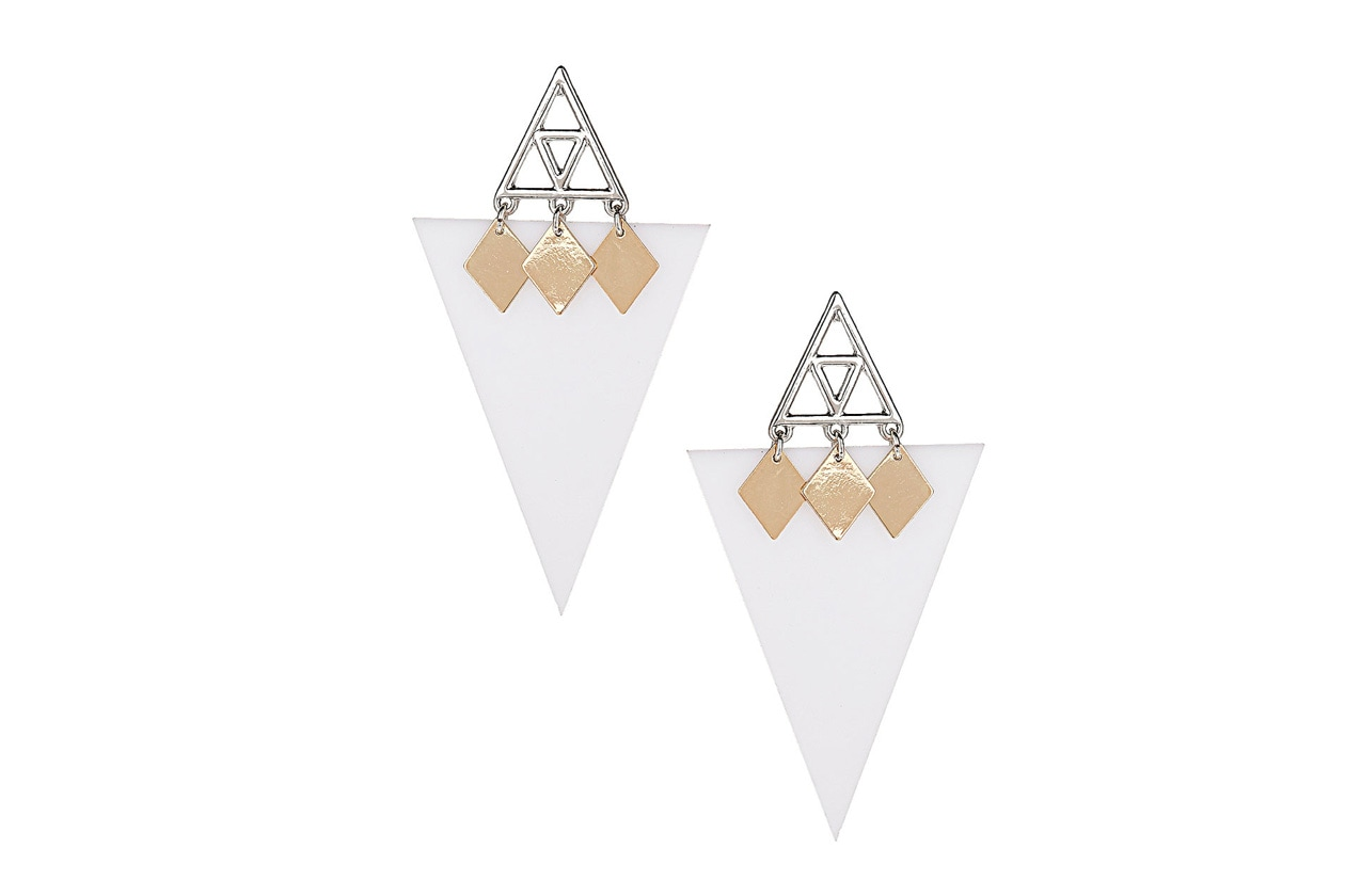 orecchini geometrici topshop