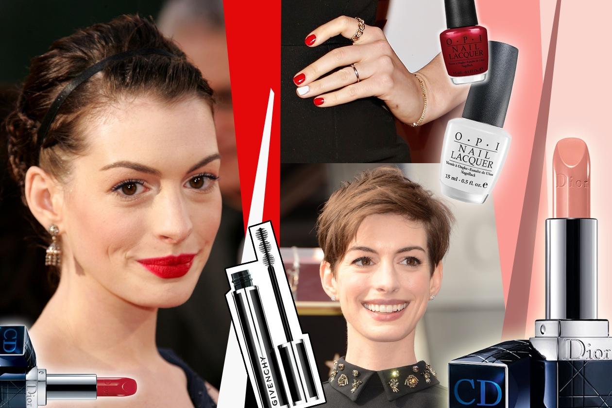 Anne Hathaway: i beauty look e i make up da imitare