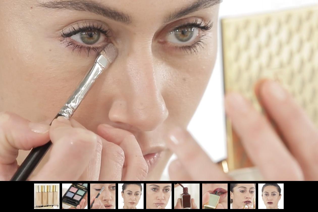 YSL make up: trucco da sera con labbra dark o nude