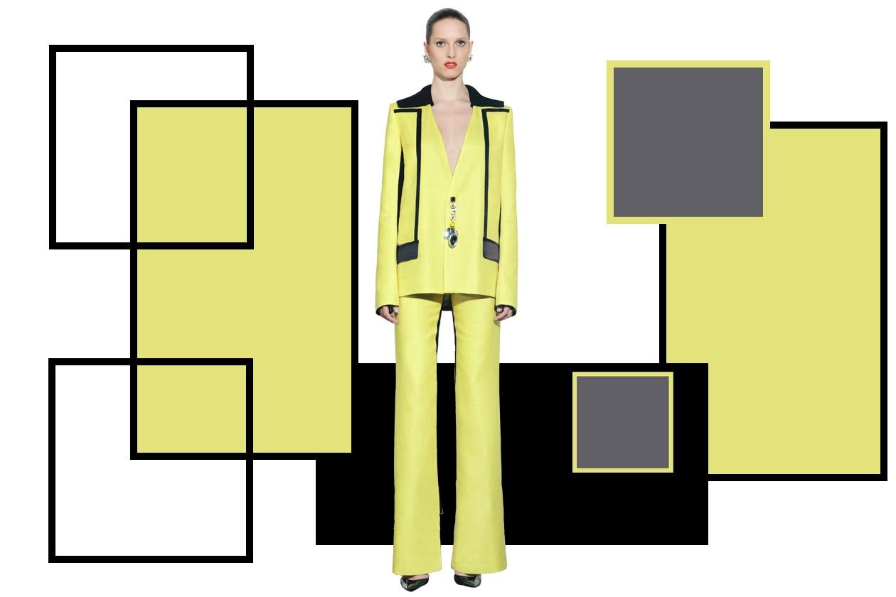 Peet Dullaert SS13 completo giacca giallo
