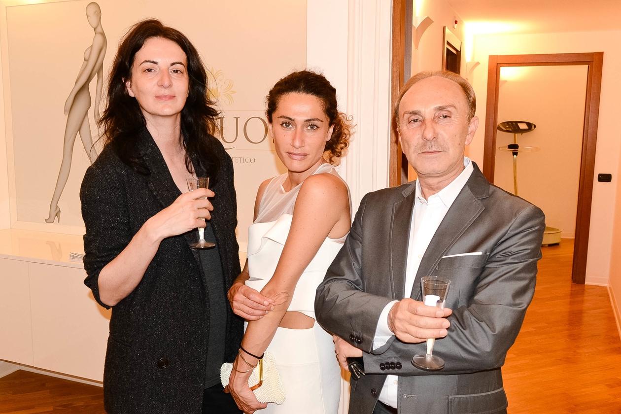 Claudia Carretti (L'Officiel), Arianna Cattarin, Giuseppe Picarella (medico e chirurgo estetico)