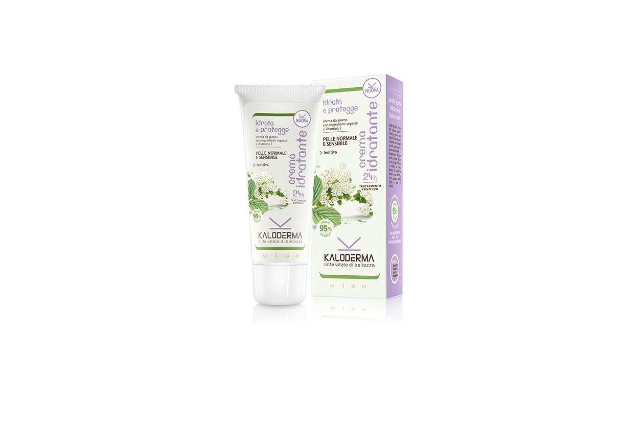È composta dal 95% da ingredienti di origine naturale la Crema idratante viso di Kaloderma