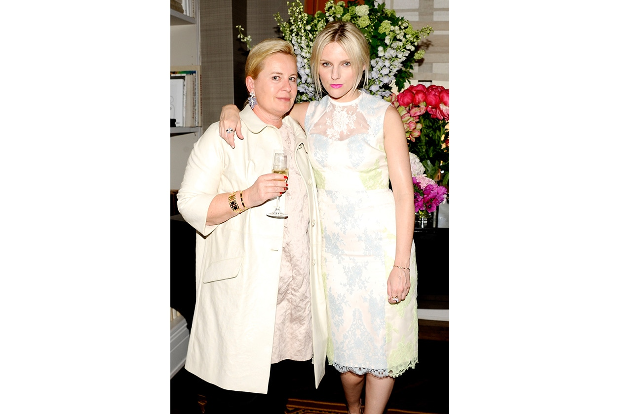 Fashion mytheresa mytheresa com's Susanne Botschen in Miu and Laur Brown in Erdem both from