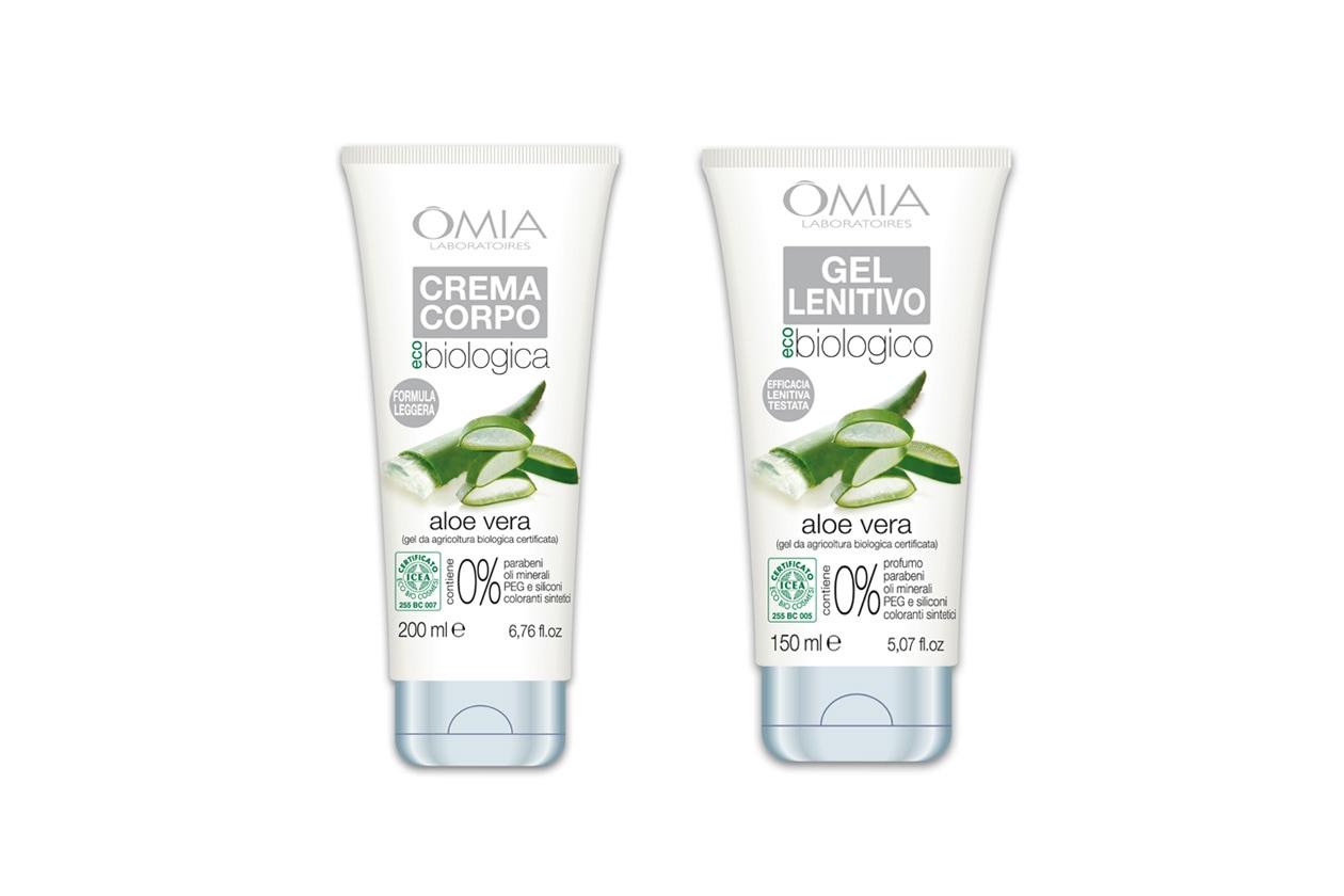 Il Gel Lenitivo Viso e Corpo di OMIA Laboratoires è indicato per le pelli più delicate, come la Crema Corpo Aloe Vera