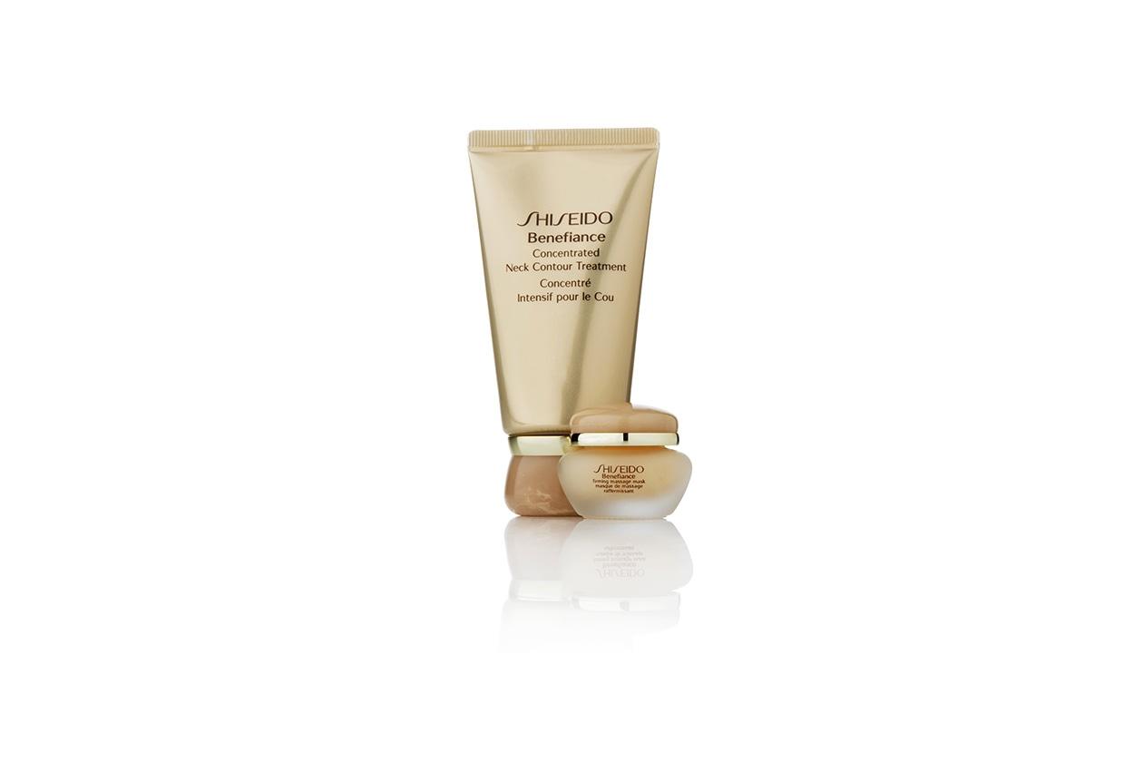 La Benefiance Concentrated Neck Contour Treatment di Shiseido rassoda e attenua le rughe profonde con un effetto lifting