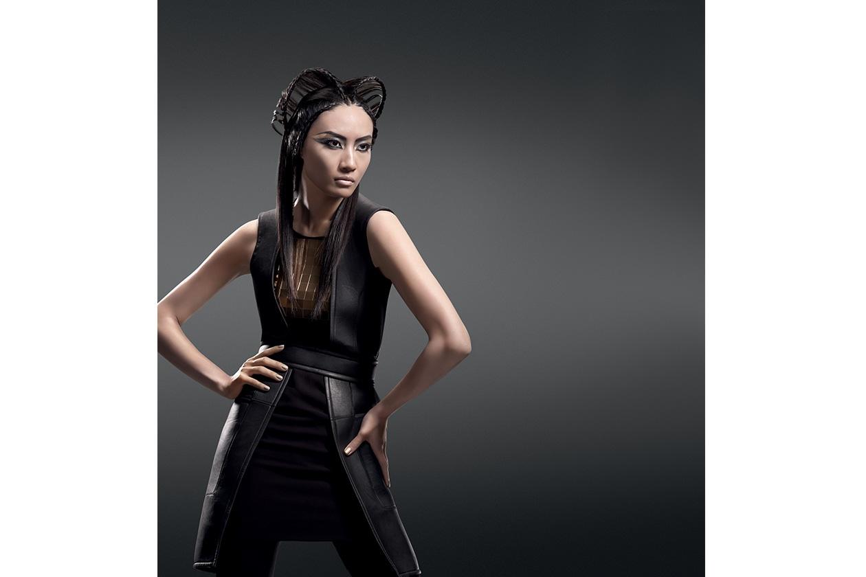 Lo stile metropolitano con un finish da haute couture: è l'hairdo Shangai Allure della collezione Urban Explorers Hairlook by Sebastian Professional