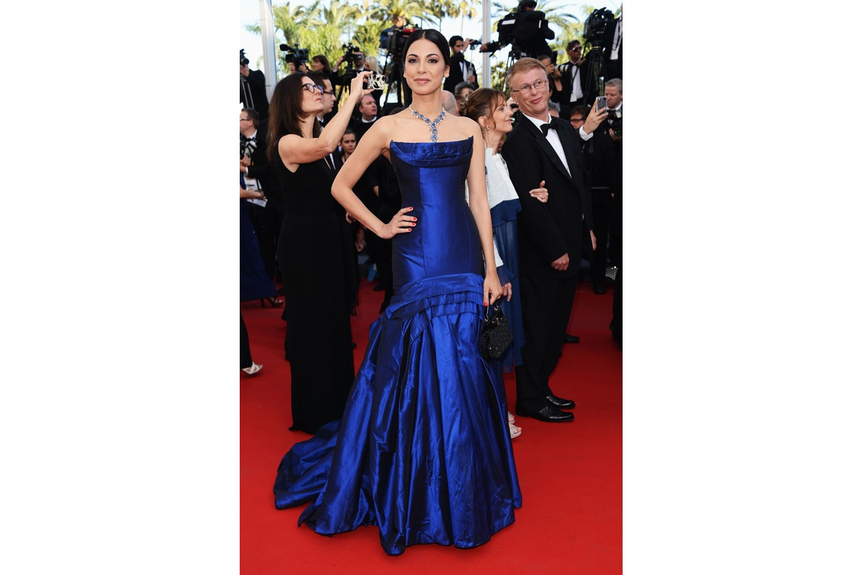 Moran Atias in Roberto Cavalli at the premiere of Cleopatra during the 2013 Cannes Film Festival 21 05 2013
