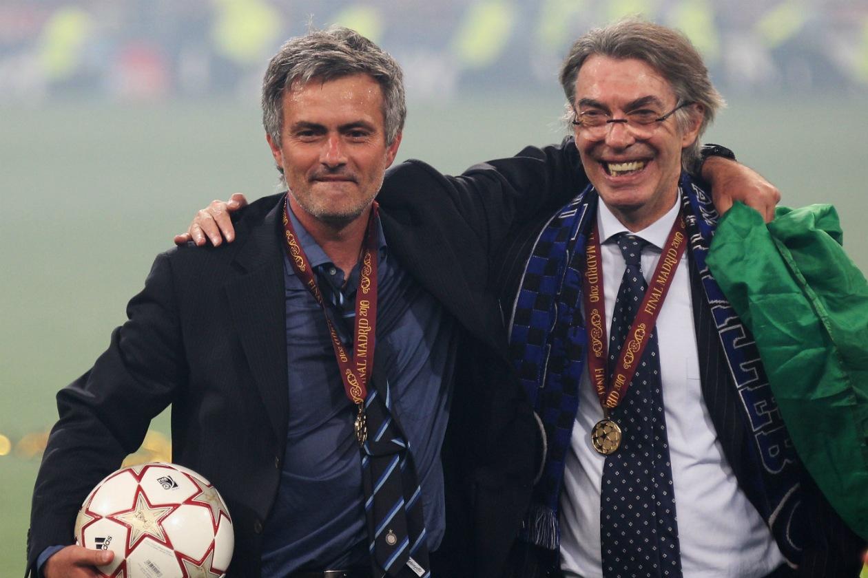 Mourinho con Massimo Moratti ai tempi del triplete