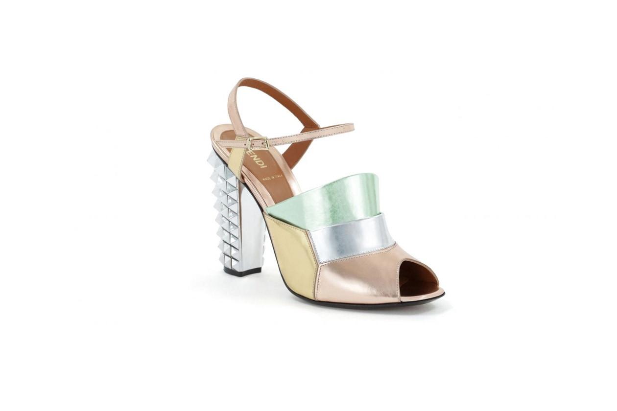 Multicolor per il sandalo di Fendi