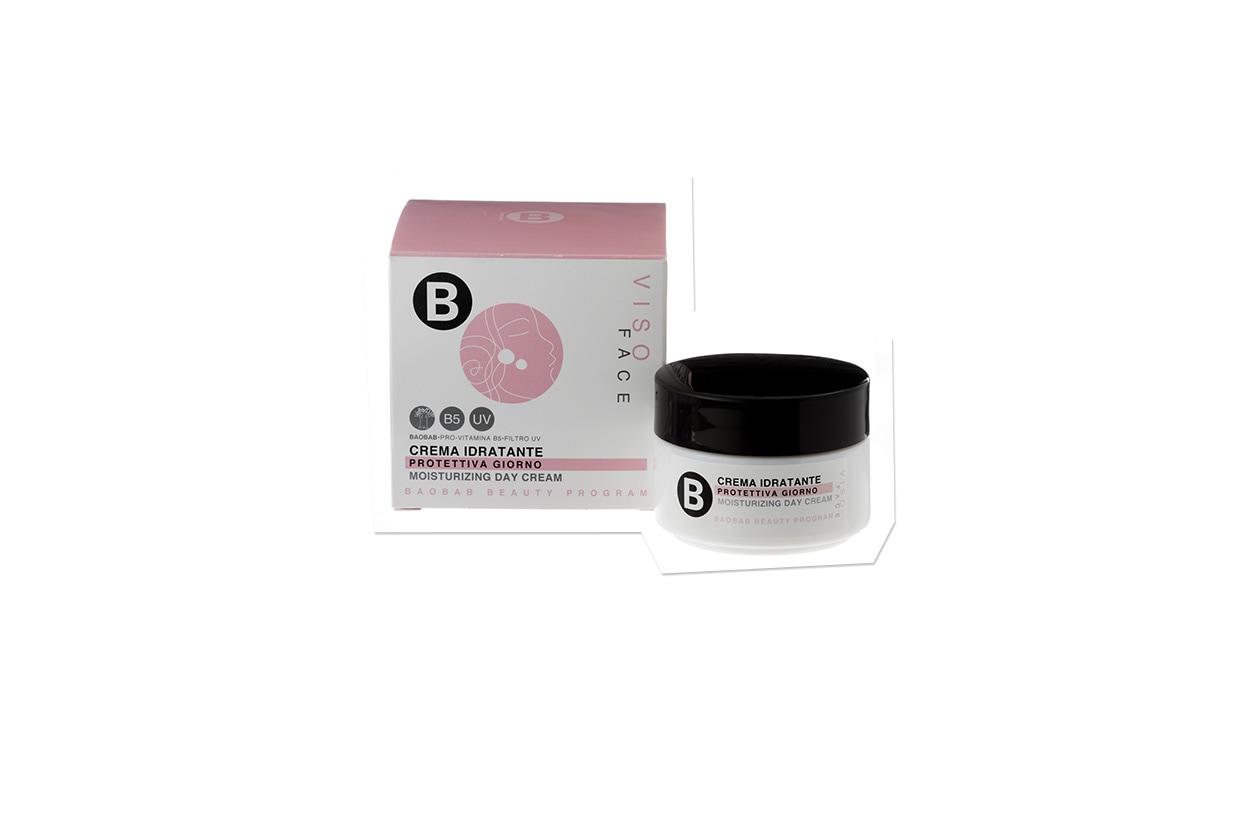 Se la polpa di Baobab disseta, la pro-vitamina B5 e l'estratto di soia difendono dall'inquinamento: è la Crema idratante viso di B by Limoni