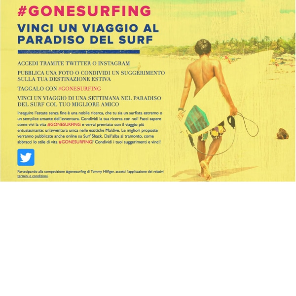 Tommy Hilfiger: il concorso #GoneSurfing
