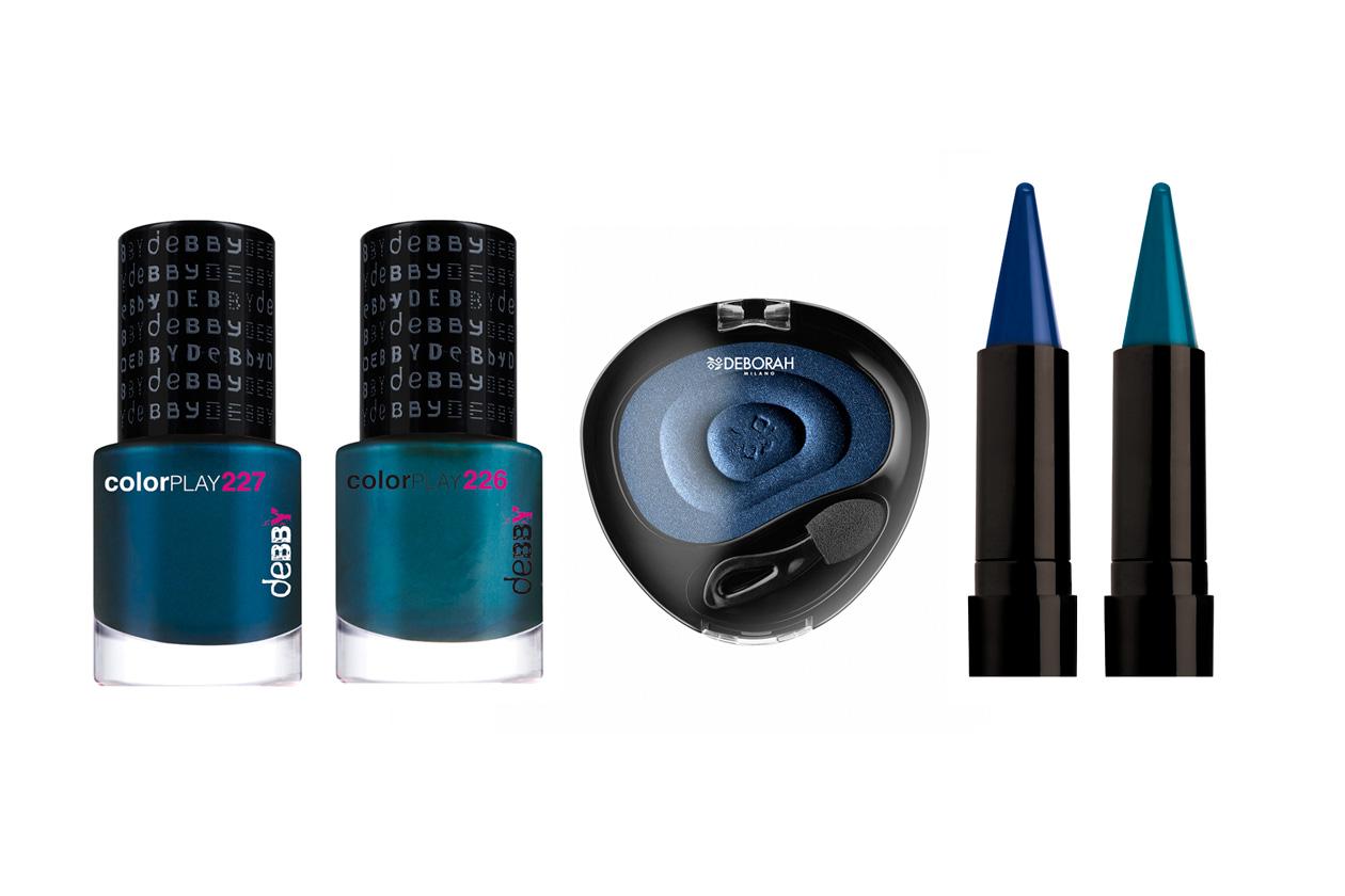 Total look in blu per Deborah Milano