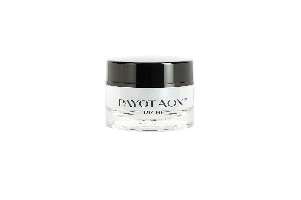 Una crema multitasking: Payot Aox Riche combatte i segni dell'invecchiamento cutaneo, crea una potente barriera antiossidante e ha un immediato effetto luminoso