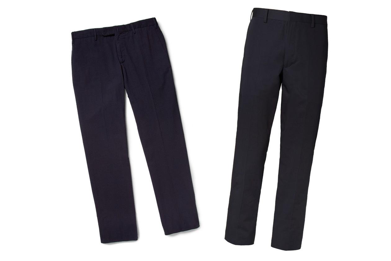 01 pantaloni blu thom browne navy slowear