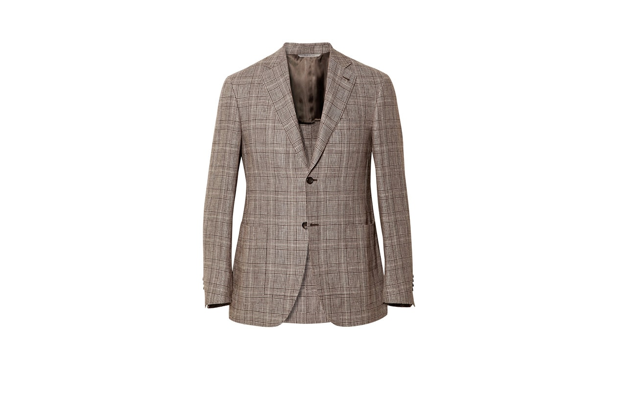 Fashion Get the look Johannes Huebl Jacket blazer check canali