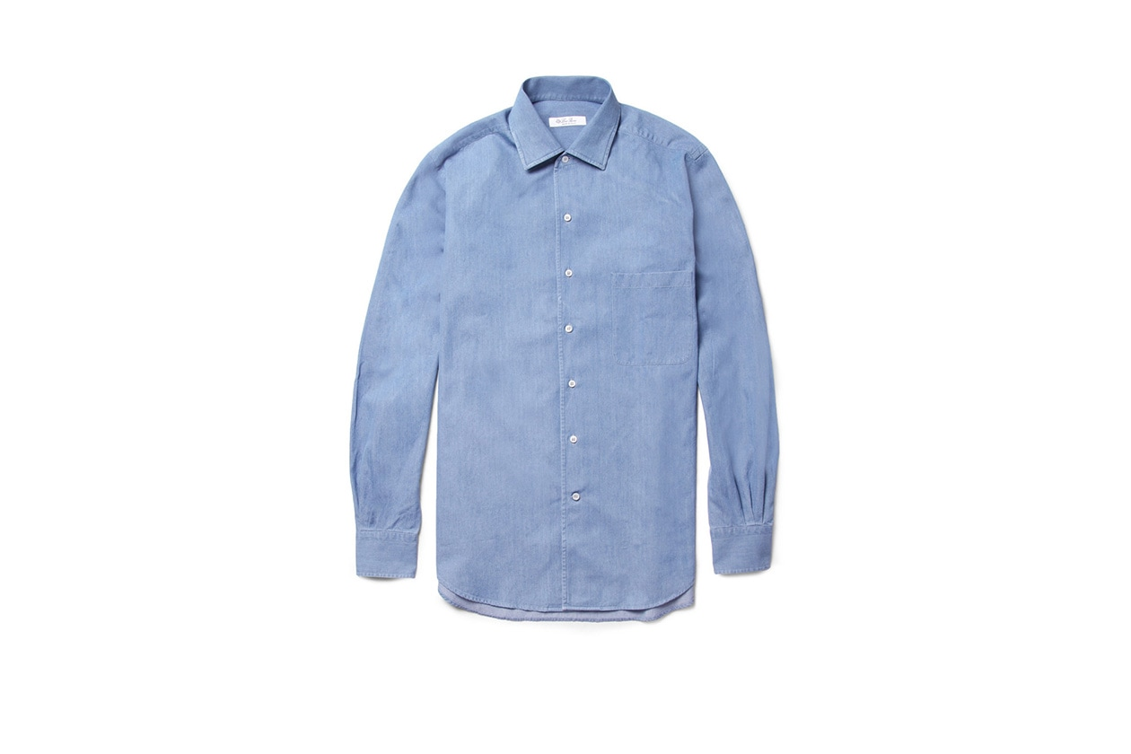 Fashion Get the look Johannes Huebl Easy formal camicia denim loropiana