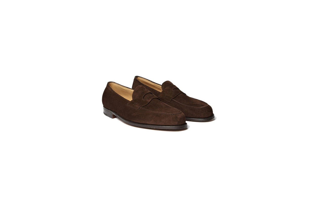 Fashion Get the look Johannes Huebl Pull mocassini camoscio john lobb