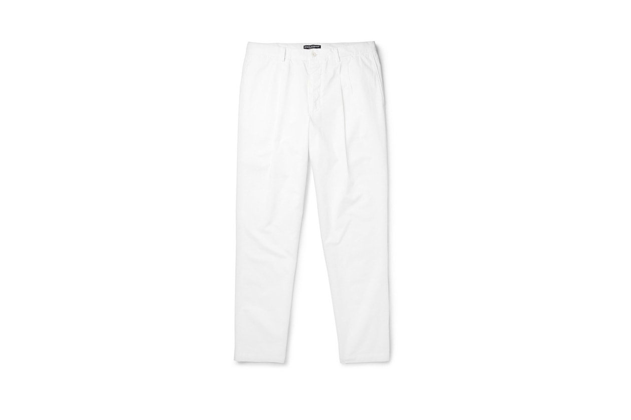 Fashion Get the look Johannes Huebl Easy formal pantaloni cotone dolce e gabbana
