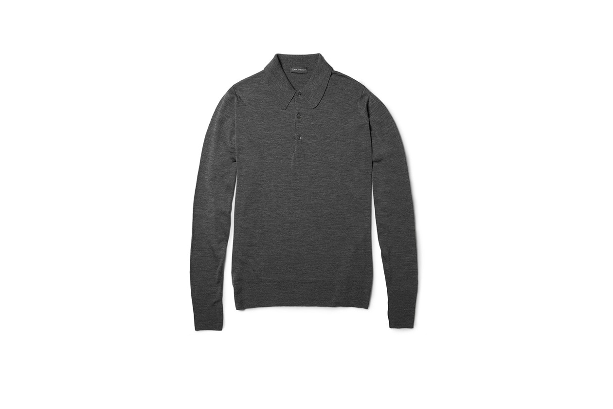 Fashion Get the look Johannes Huebl Jacket polo merino john smedley