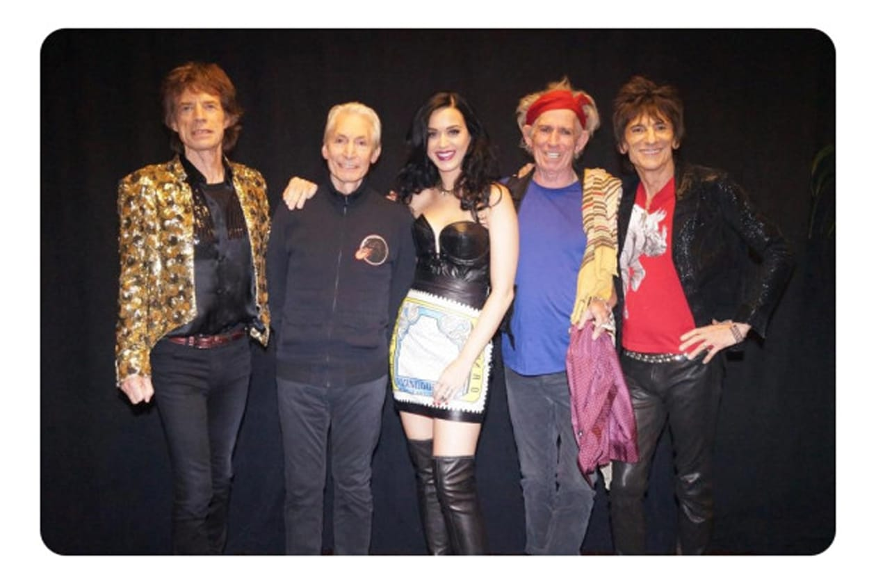 Katy Perry con i Rolling Stones: per la serie il diavolo e l'acqua santa