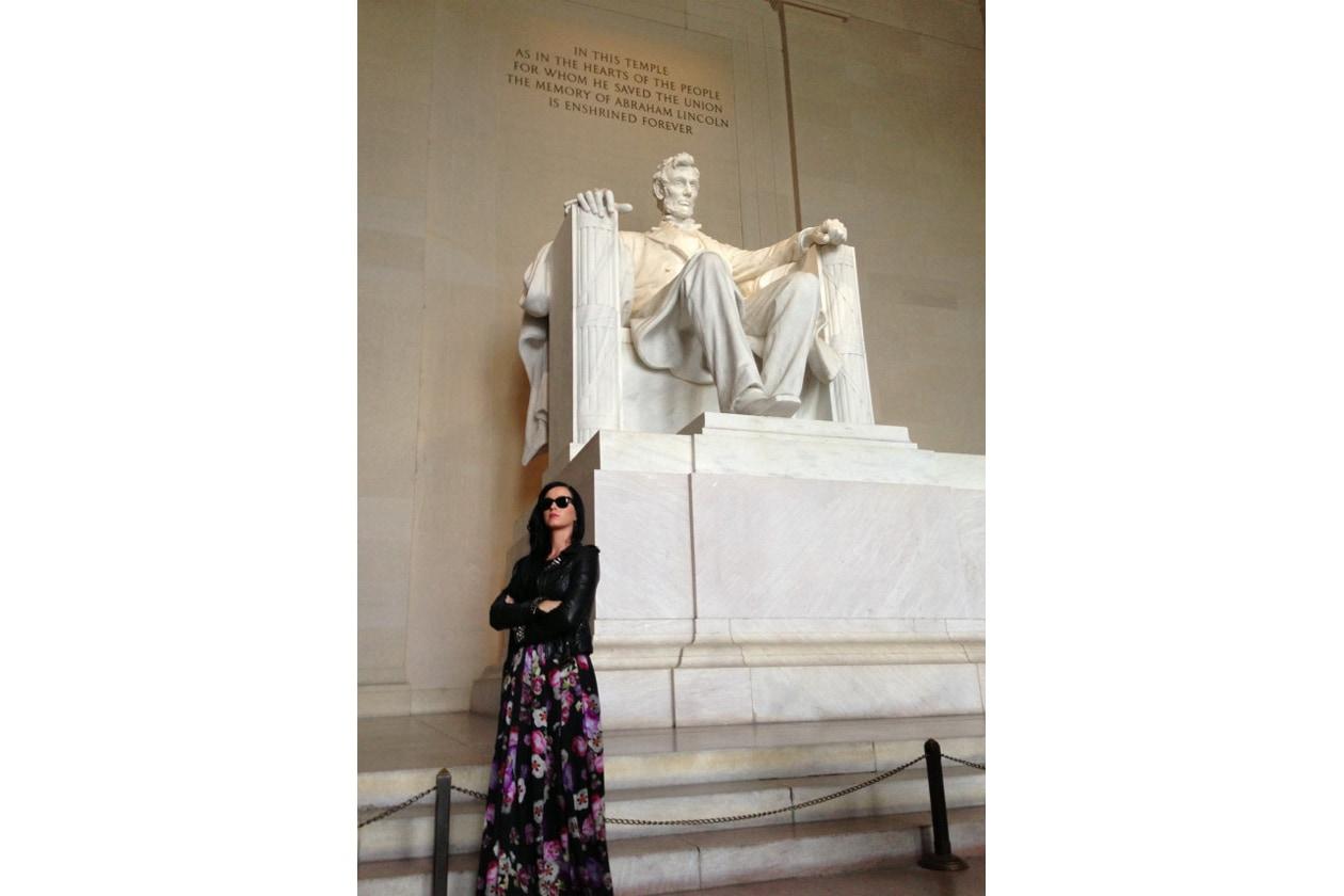 Katy Perry con Abramo Lincoln