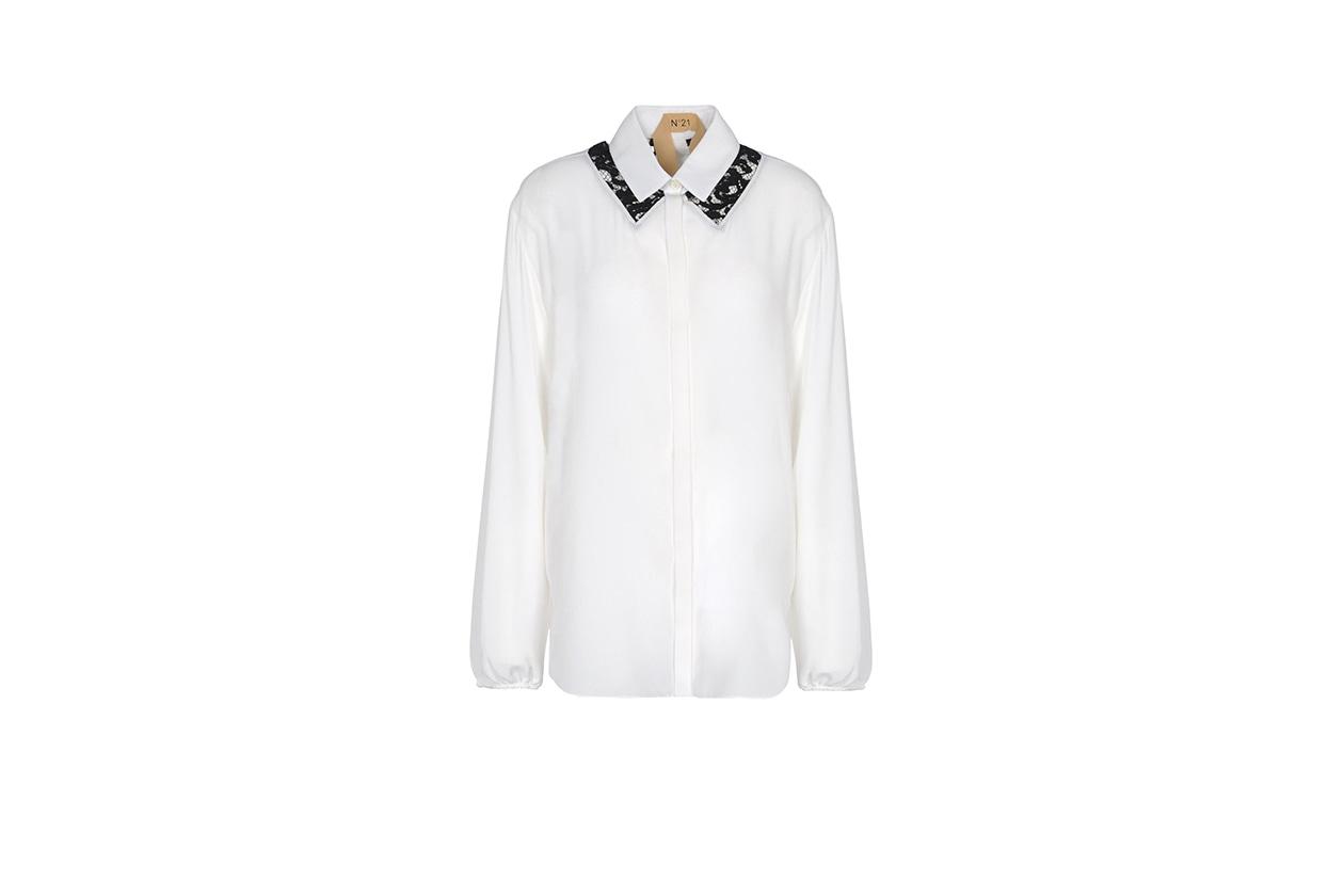 Fashion Top List Lace camicia colletto pizzo numero 21