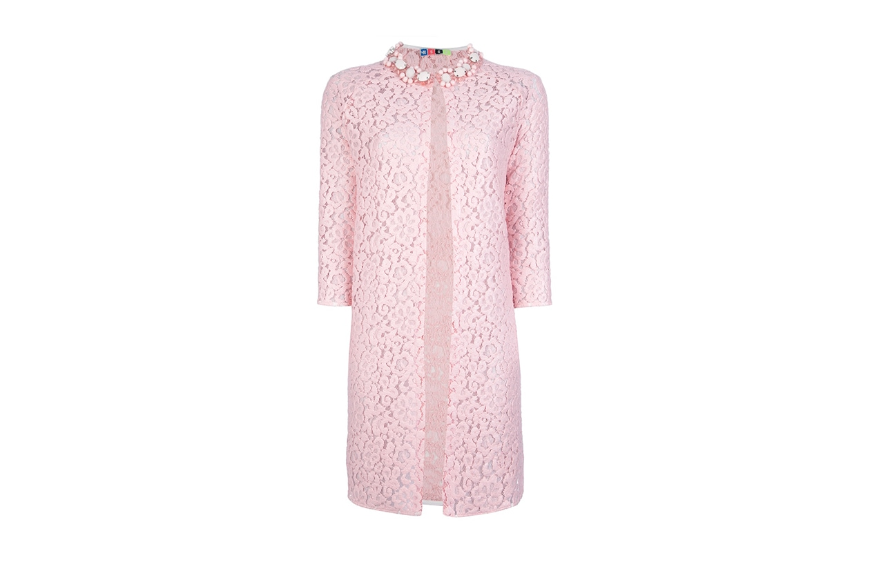 Fashion Top List Lace coat pizzo rosa msgm