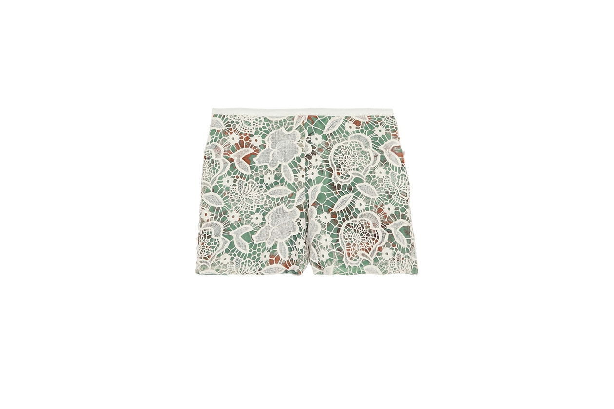 Fashion Top List Lace short pizzo anna sui