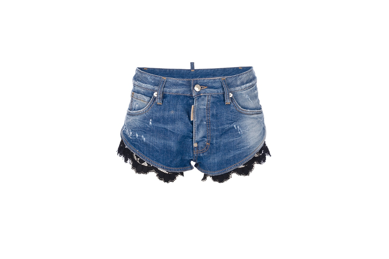 Fashion Top List Lace short dsquared2 pizzo