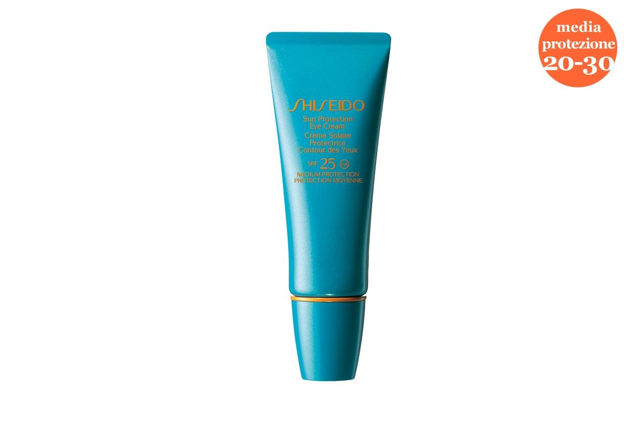 Anche il contorno occhi ha bisogno di una protezione specifica: ci pensa Shiseido con il Sun Protection Eye Cream SPF 25