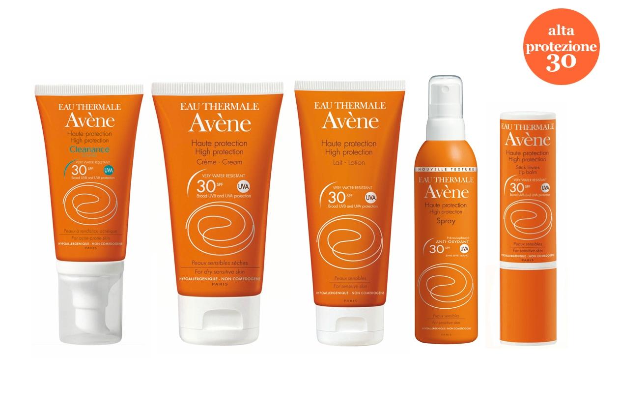Della linea SPF 30 di Avène segnaliamo il Cleanance Solare, specifico per pelli grasse