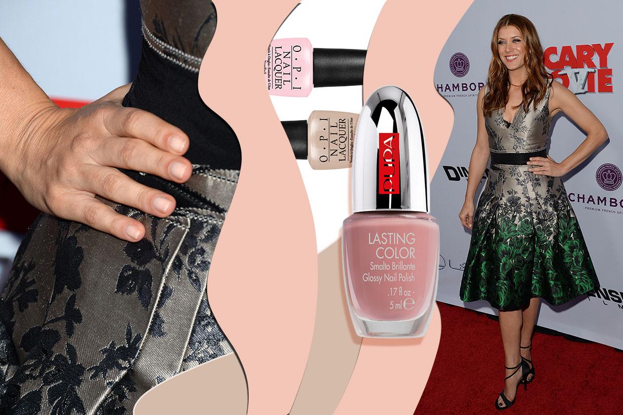 Elegante e discreta la manicure di Kate Walsh (Pupa – OPI)