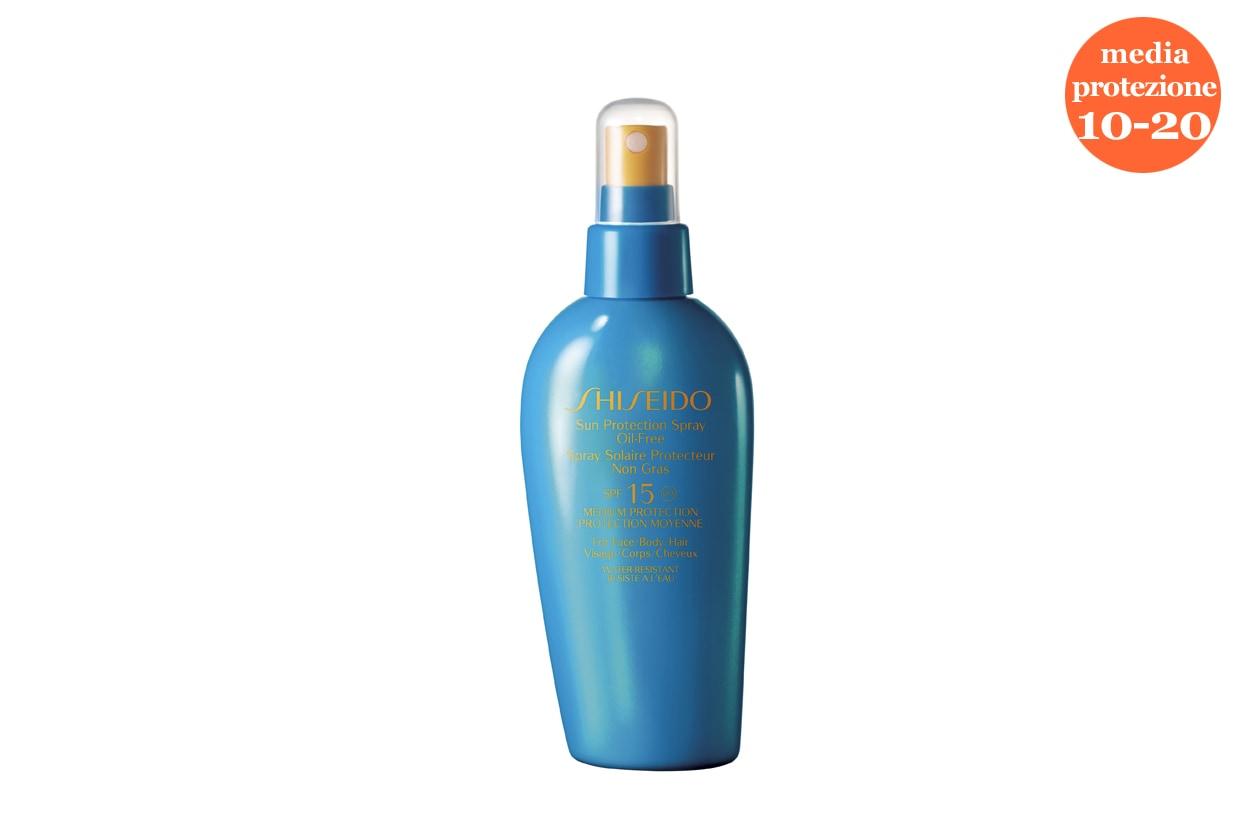 Il Sun Protection Lotion SPF 10 di Shiseido è ottimo anche per chi fa sport