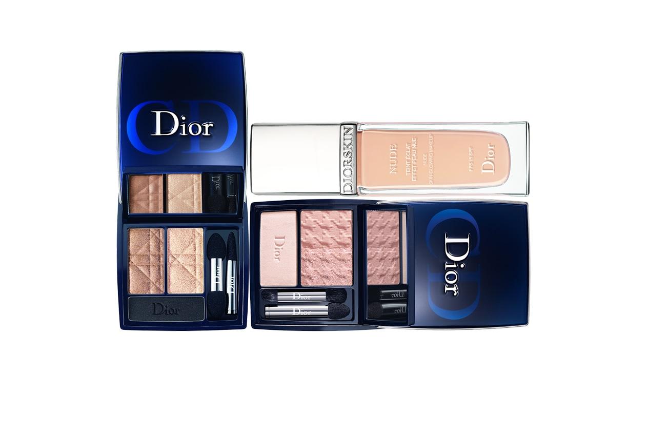 Il mix di prodotti per un nude look très chic sui toni romantici del rosa (Dior)