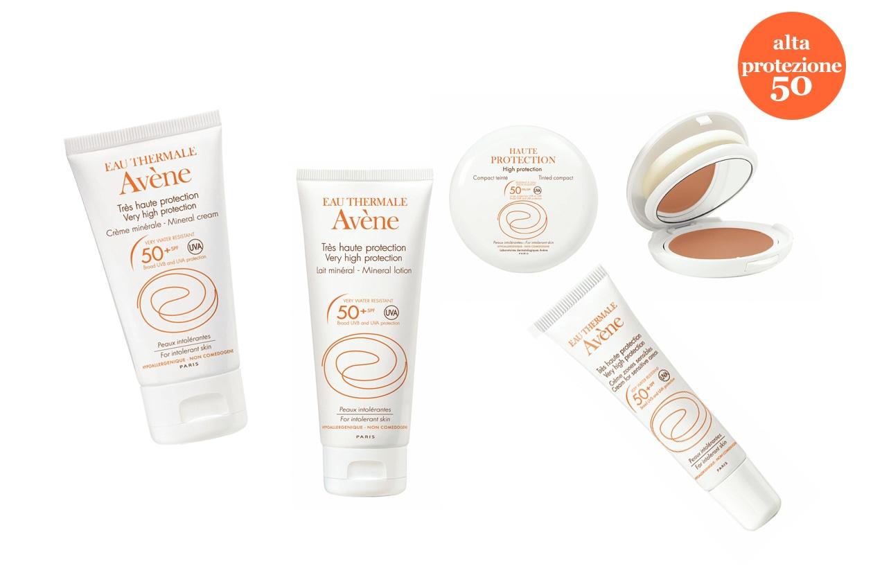 La linea minerale di Avène ha il 100% di schermi minerali: è pensata per proteggere le pelli intolleranti ai filtri chimici e ai profumi