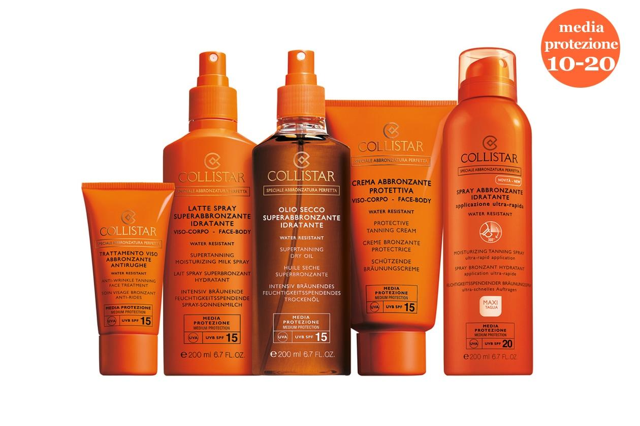 Per le pell già abbronzate: alla linea classica di Collistar si affianca l'Olio Secco superabbronzante