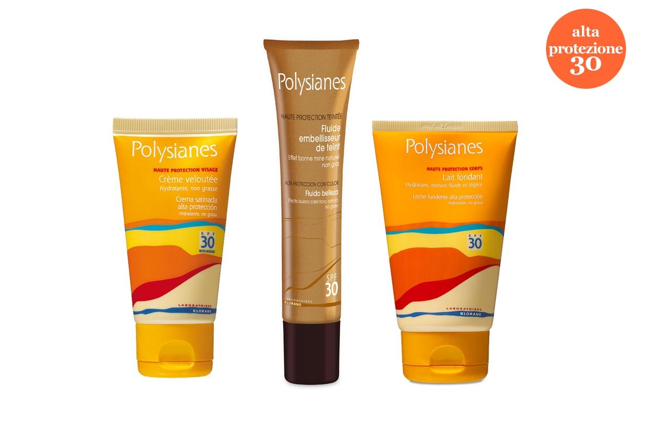 Polysianes di Klorane propone il Fluido colorato SPF 30 dalla texture leggera, idratante e colorata