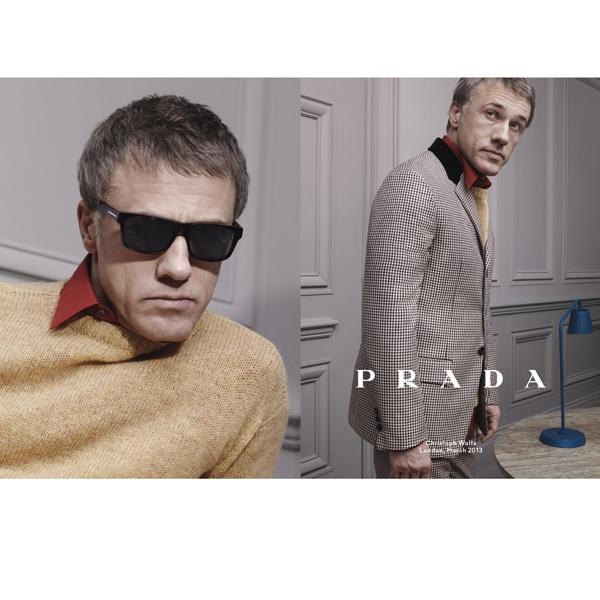 Prada Menswear FW13 Campaign Christoph Waltz(1)