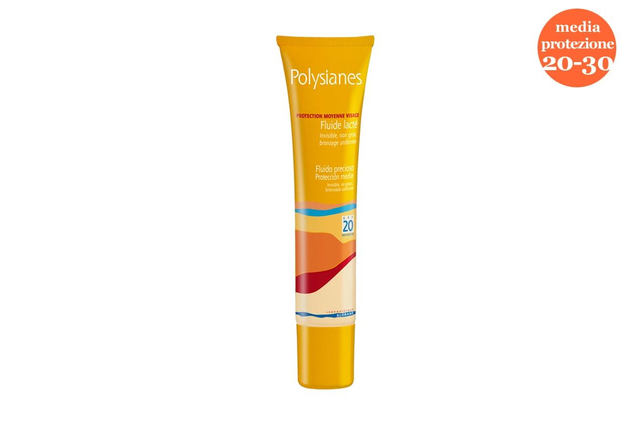 Specifico per il viso il Fluido vellutato SPF 20 di Polysianes by Klorane